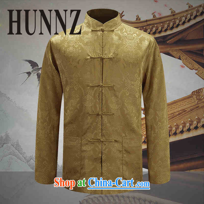 Products HUNNZ New Men's two-sided Tang replace uniforms costumes and negative to wear spring new smock male yellow 190