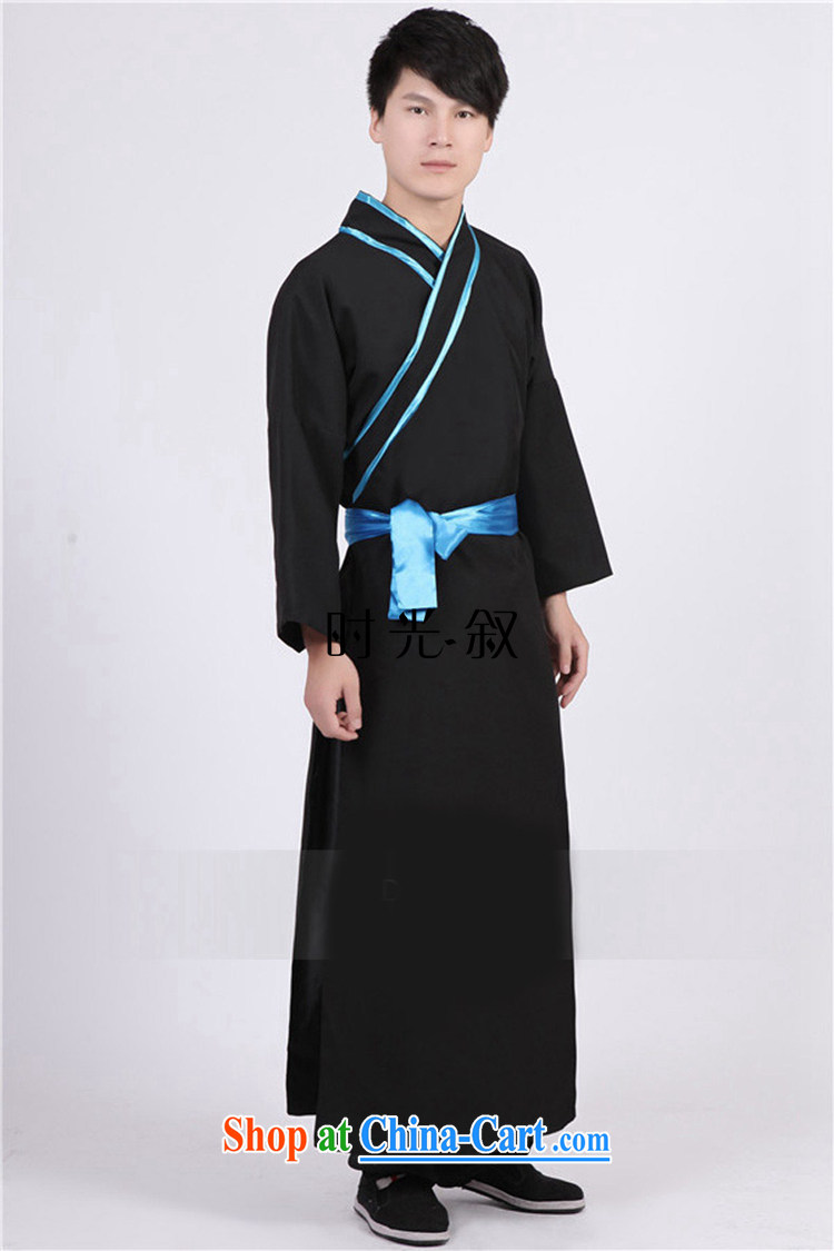 Time his new men costumed Swordsman costumes knights errant clothing Chinese clothing, ancient scholar male Samurai costumes gray adult, pictures, price, brand platters! Elections are good character, the national distribution, so why buy now enjoy more preferential! Health