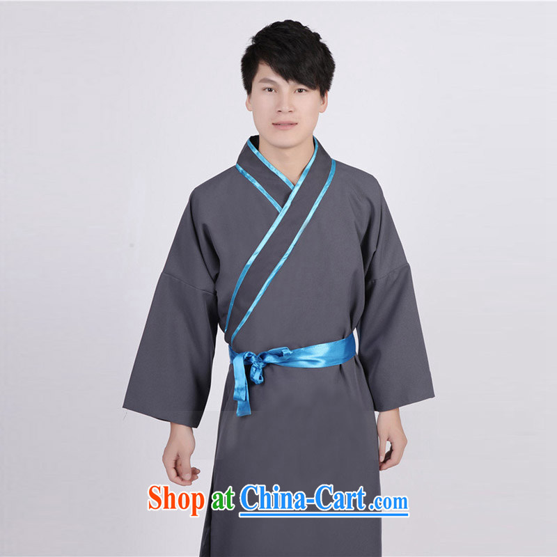 Time his new men costumed Swordsman costumes knights errant clothing Chinese clothing, ancient scholar male Samurai costumes gray聽adult, time, and shopping on the Internet