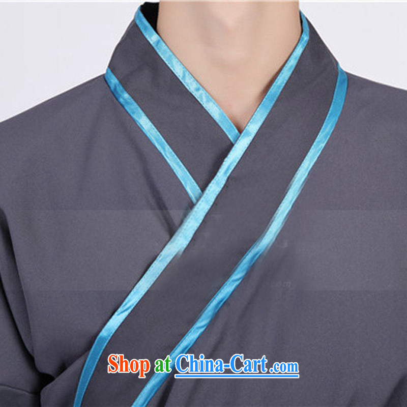 Time his new men costumed Swordsman costumes knights errant clothing Chinese clothing, ancient scholar male Samurai costumes grayadult, time, and shopping on the Internet