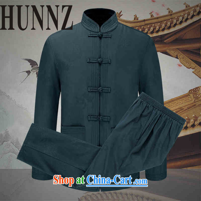 Name HUNNZ, with ethnic Chinese, and Chinese men set spring and long-sleeved jacket Kit army green 190