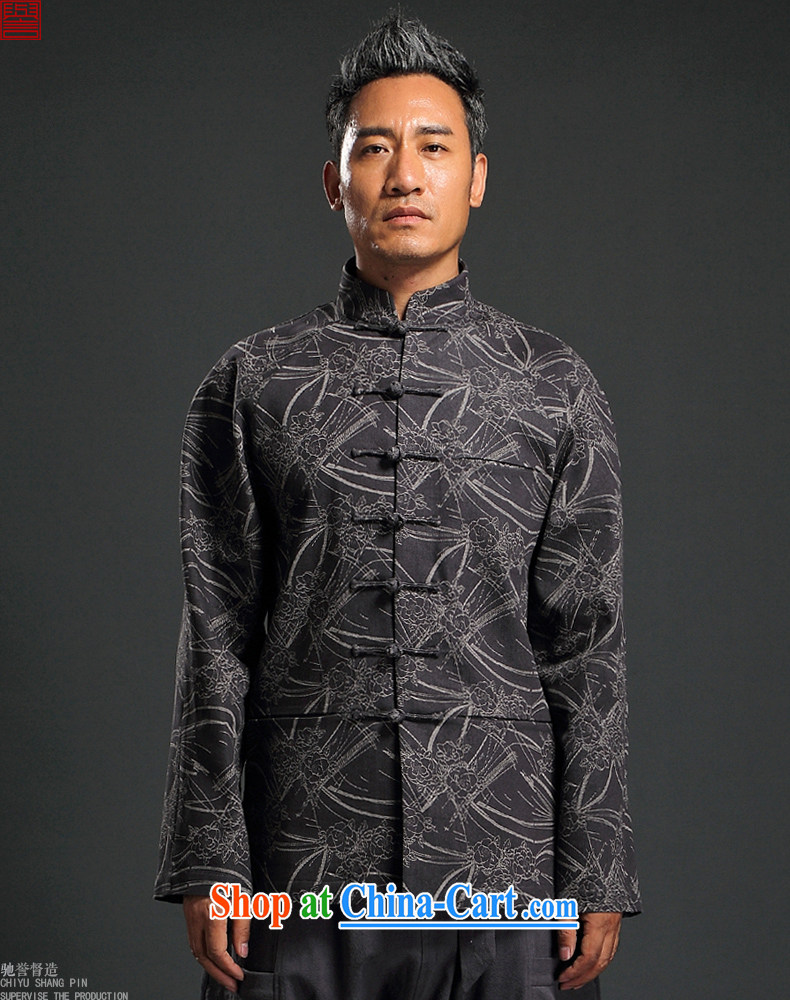 Internationally renowned Chinese wind knitting cowboy Chinese men and Chinese hand-tie jacket stylish retro T-shirt, collar jacket dark gray 4 XL pictures, price, brand platters! Elections are good character, the national distribution, so why buy now enjoy more preferential! Health