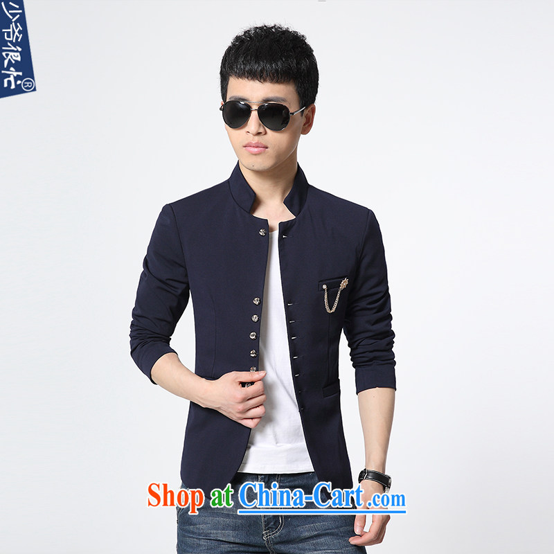 Shao Ye are very busy autumn and winter New Products Listing men's beauty, for small suit Korean fashion youth smock solid-colored suit jacket male XF 57 blue 4 XL