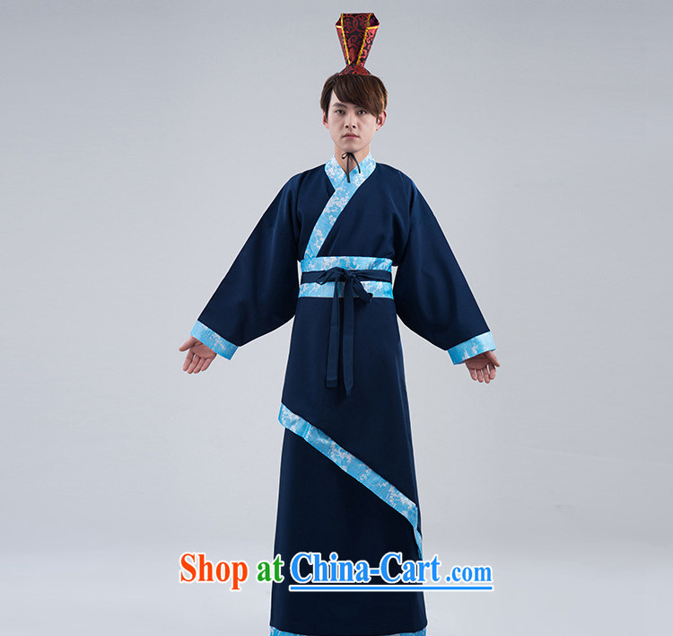Energy, Philip Li Han-costumed men's men's Tibetan cyan track civil service performance costumes men show their wedding photo photo album clothing Tibetan cyan are code pictures, price, brand platters! Elections are good character, the national distribution, so why buy now enjoy more preferential! Health