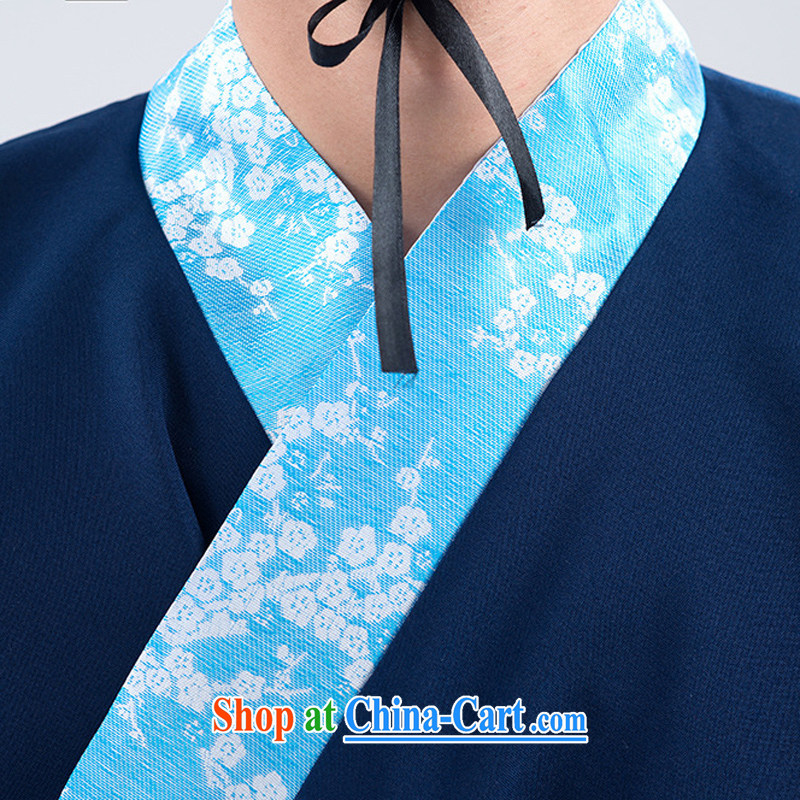 Energy Mr. Philip Li Han-costumed men's men's Tibetan cyan track civil service performance costumes men show their wedding photo photo clothing Tibetan cyan, code, energy, Philip Li (mode file), and, on-line shopping