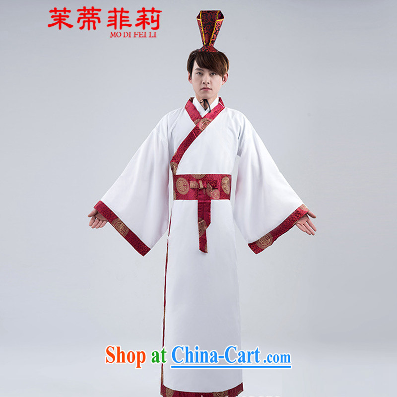 Energy Mr. Philip Li Feng Huang Han-male white red edge has been civil service performance improvement Men show white uniforms are code