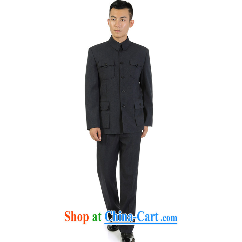 Double-Spring and Autumn and the Chinese Government for suit package leisure older male smock set up for the generalissimo Kit gray 80