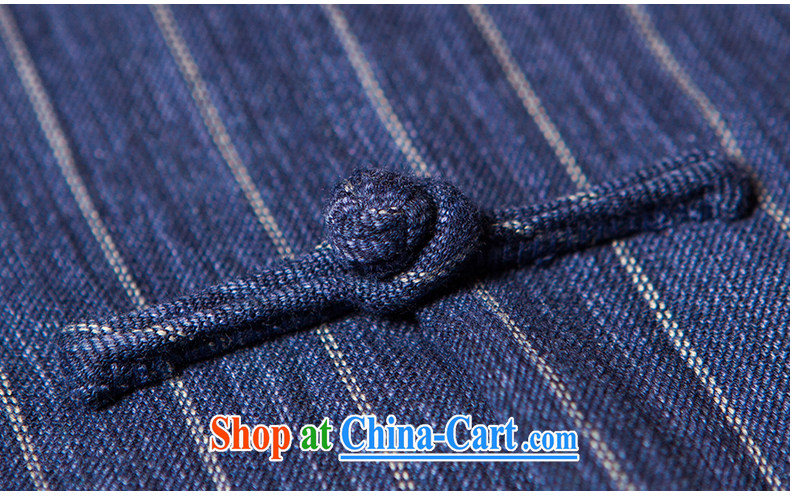 Take Your Excellency's wind the no collar cotton wide stripes, a Chinese Zen Yi-5 cuff Tang with dark blue, XXL) pictures, price, brand platters! Elections are good character, the national distribution, so why buy now enjoy more preferential! Health