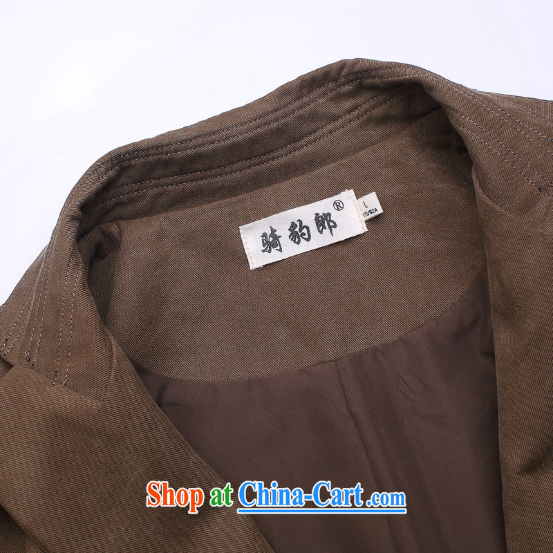 Riding a leopard who jacket coat men's national costume autumn and winter new Chinese Nepal long-sleeved clothing Chinese clothing men's smock black XXXL, riding a leopard (QIBAOLANG), shopping on the Internet