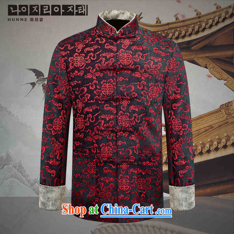 Products HANNIZI new older persons in Chinese men over his birthday banquet Chinese Dress medieval wind stage with deep red 190