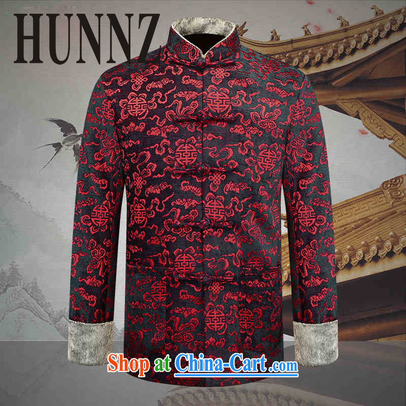 Products HUNNZ new older persons in Chinese men over his birthday banquet Chinese Dress medieval wind stage with deep red 190