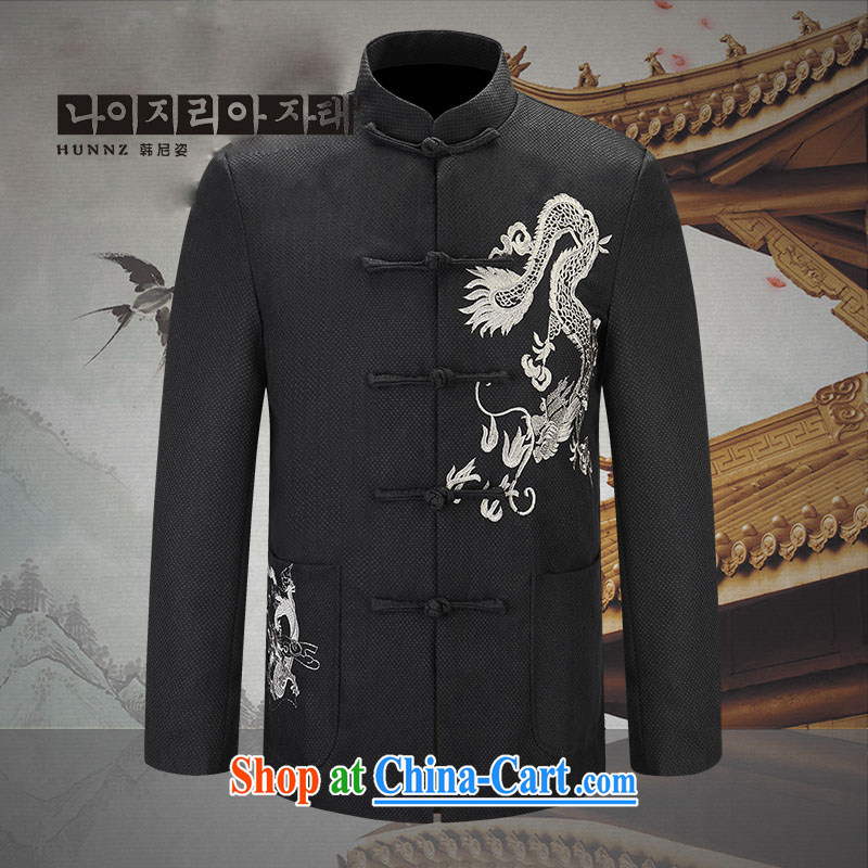 Products HANNIZI quality cotton the male Chinese dragon jacket China wind men's jackets jacket during the republic of smock Silver Dragon 185
