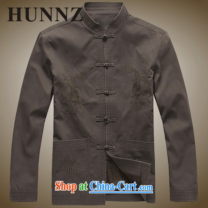 Products HUNNZ new natural cotton the men's China wind Tang jackets, older ethnic costumes Chinese, for men's khaki-colored 190