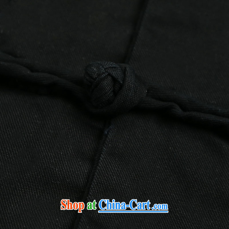Products HUNNZ new classical Chinese style men's Chinese old napped long-sleeved shirt, and for the charge-back national costumes black 180, HUNNZ, shopping on the Internet