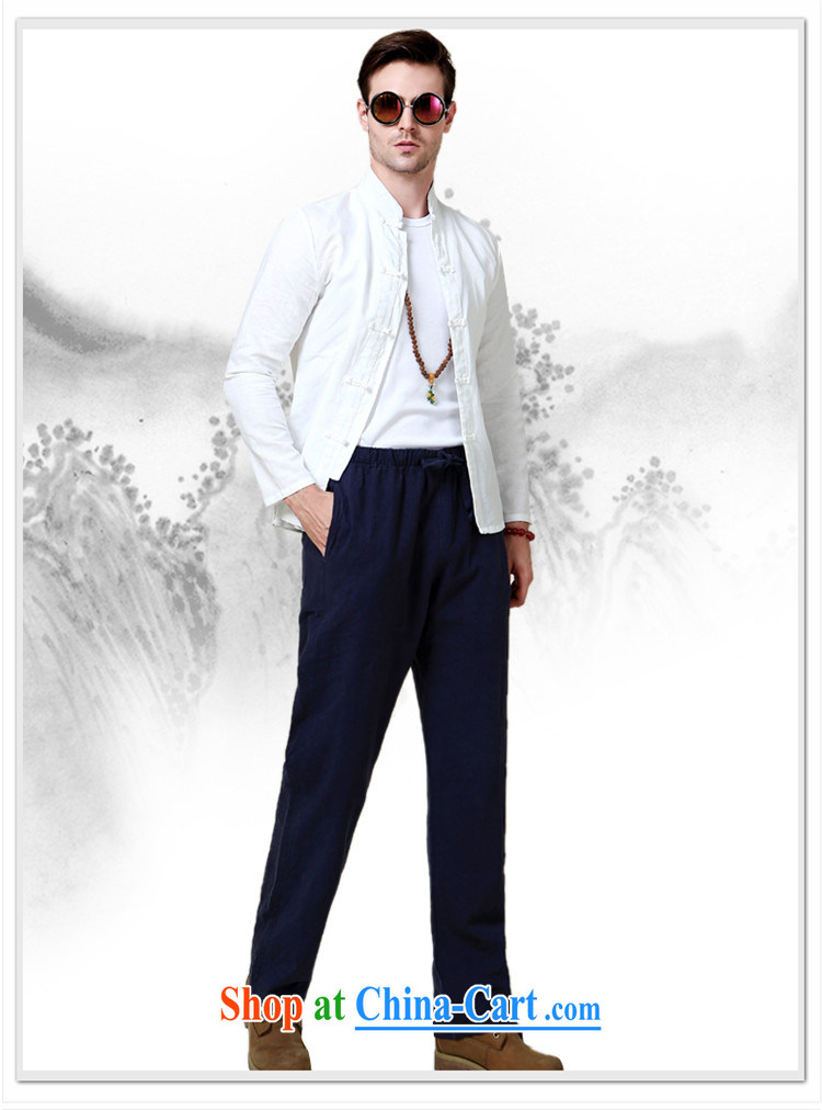 name brands HANNIZI natural cotton Ma Man Tang with long-sleeved shirt China wind up collar shirt Solid Color Chinese-tie men's white 185 pictures, price, brand platters! Elections are good character, the national distribution, so why buy now enjoy more preferential! Health