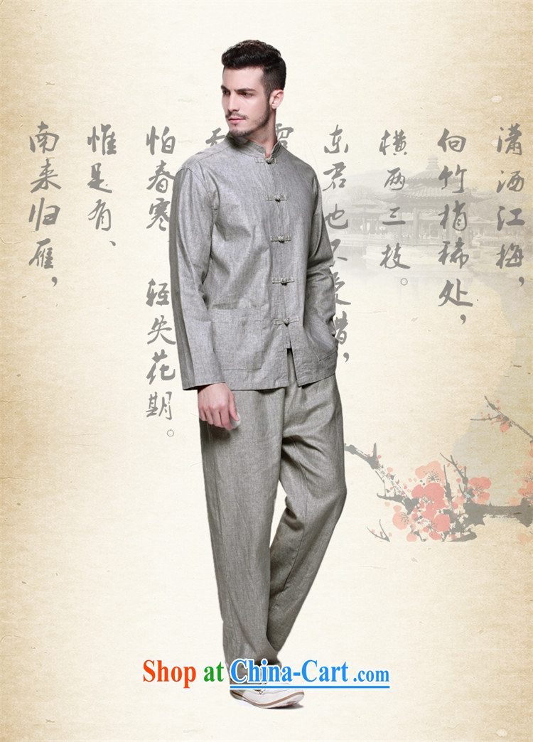 name brands HUNNZ New Products natural cotton Ma Man Tang package with Chinese national costume classic Chinese wind-tie men's gray 185 pictures, price, brand platters! Elections are good character, the national distribution, so why buy now enjoy more preferential! Health