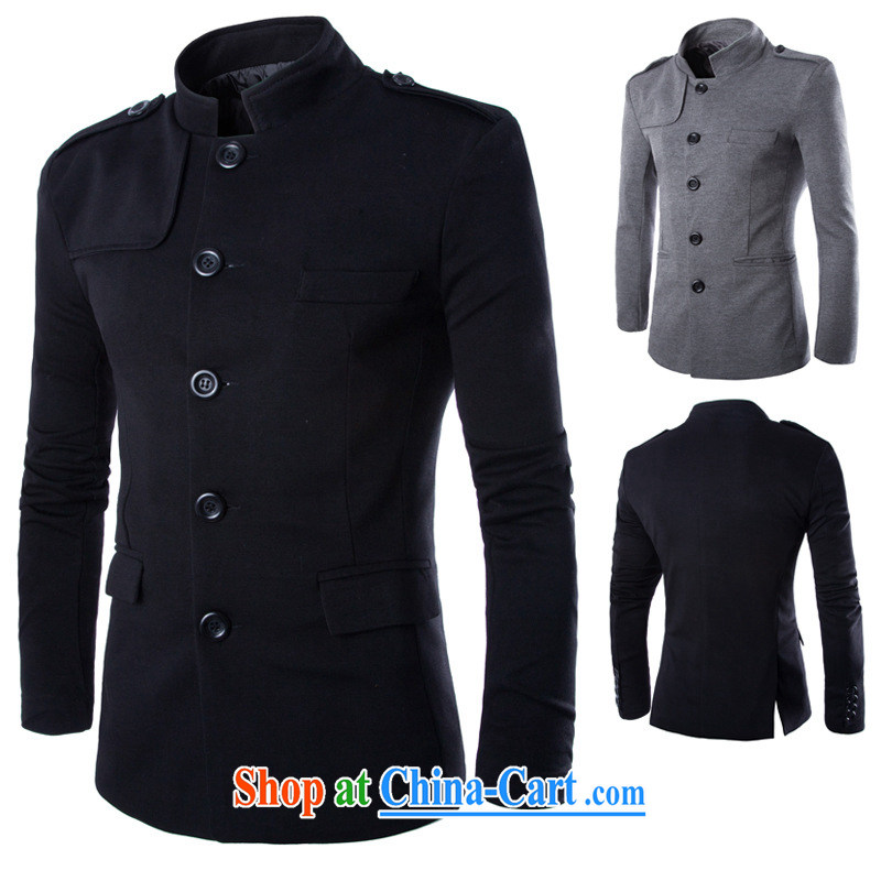 Dan Jie Shi _DANJIESHI_ 2015 new ultra-Good model English temperament, for Leisure Suit Rome smock jacket and black _XL_