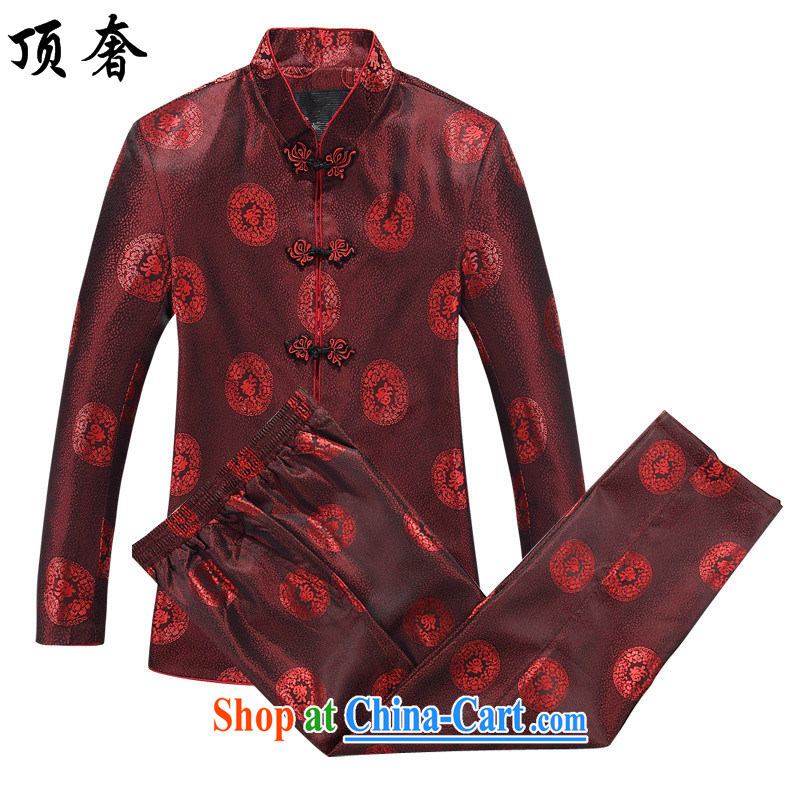 Top Luxury couples men and women long-sleeved Tang with autumn, the collar T-shirt China wind the Life dress Chinese morning exercise clothing, clothing, old fashion men and 8806 women, set pants and clothing 180 women