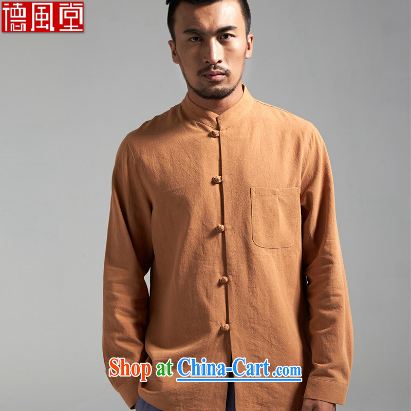 De-Tong Ching cotton once and for all the men's Chinese China wind up for long-sleeved Chinese Spring and Autumn 2015 new Chinese clothing card 3 XL_180