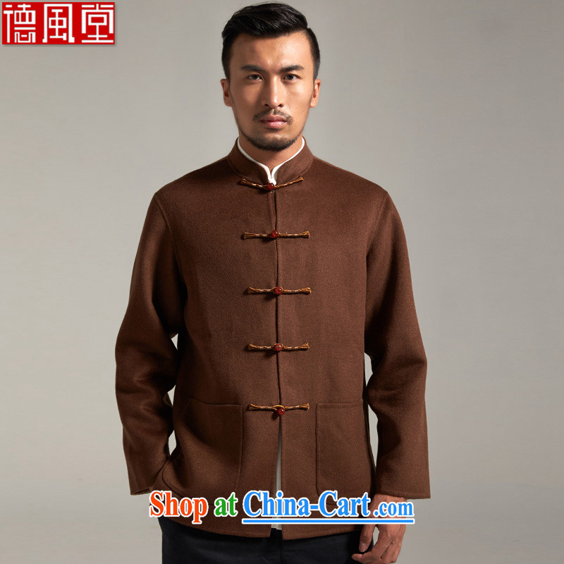 De-Tang Kwok-him of wool men's Chinese China wind jacket 2015 autumn new Chinese clothing and color 4 XL/185
