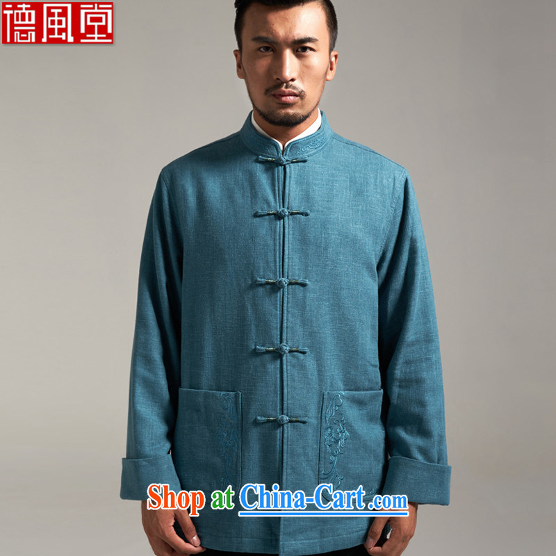 De-tong of cotton, the Chinese China wind men's jackets Chinese parka brigades