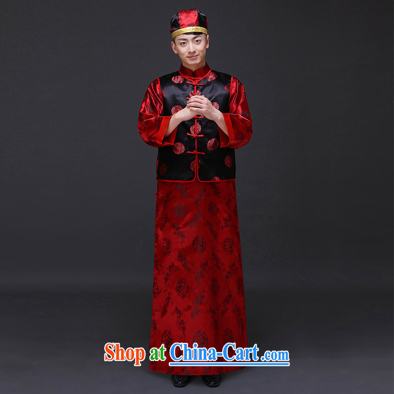 Imperial Land advisory committee Sau Wo service men's clothing Chinese wedding new unbroken service toast wedding dresses and Sau Wo service costumes happy marriage of the groom's clothing a L