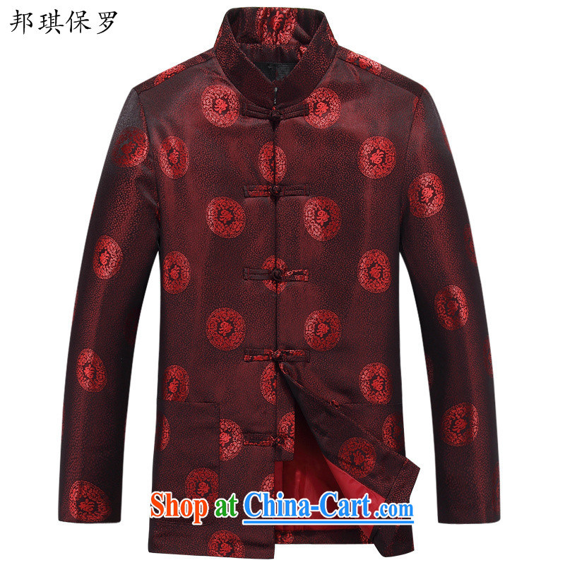 Bong-ki Paul spring older people happy Chinese elderly long-sleeved jacket Chinese men and older persons in couples Tang replace spring Jacket - 88,030 88,030 men 170