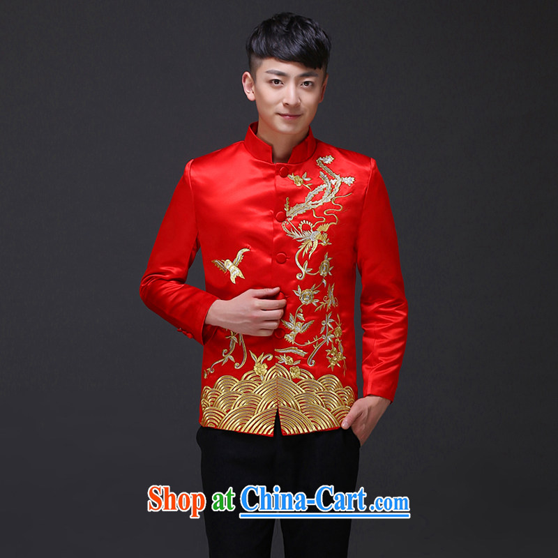 Imperial Land advisory committee Sau Wo service men and the groom's Chinese Chinese wedding dress show reel service men and Bong-load the groom's men's costumes costume show and T-shirt A S