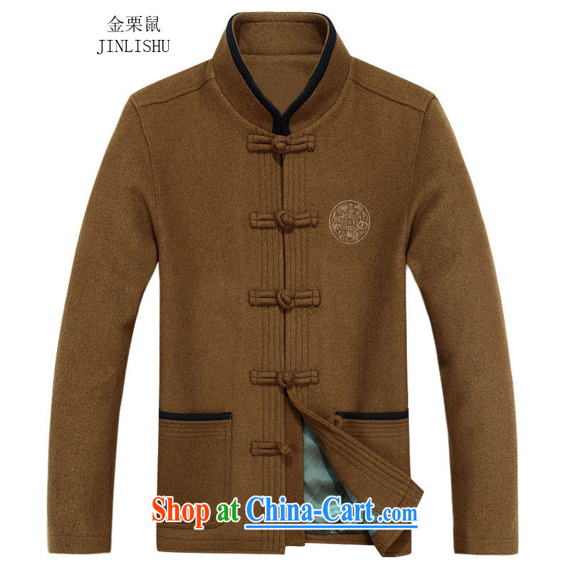 The chestnut mouse fall short, replace the older jacket jacket, long-sleeved T-shirt, collar male Tang replace long-sleeved father with anthurium 80