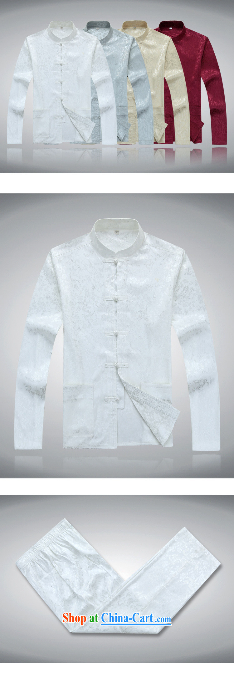 Top Luxury men's Tang is set loose version, for China wind, served the Life dress, older Chinese package with his father's grandfather with silver gray Kit 190/XXXL pictures, price, brand platters! Elections are good character, the national distribution, so why buy now enjoy more preferential! Health