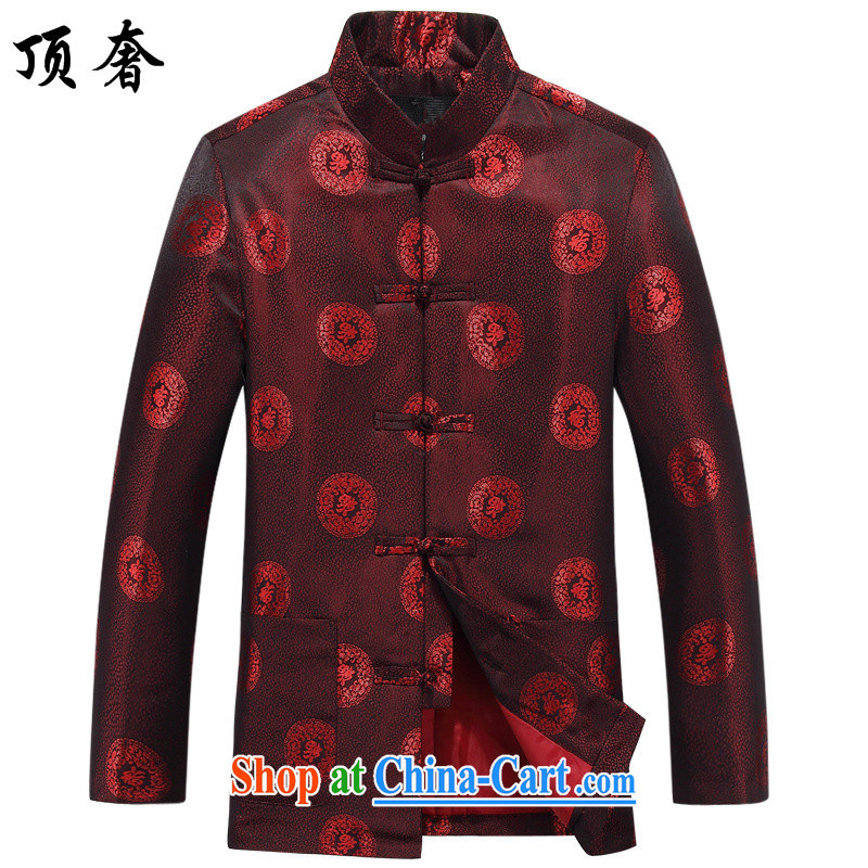 Top Luxury China wind spring and fall couples with Chinese men and women, elderly people and the Chinese wedding ceremony clothing improved elderly golden the life long-sleeved jacket 806 men, red T-shirt 180 women