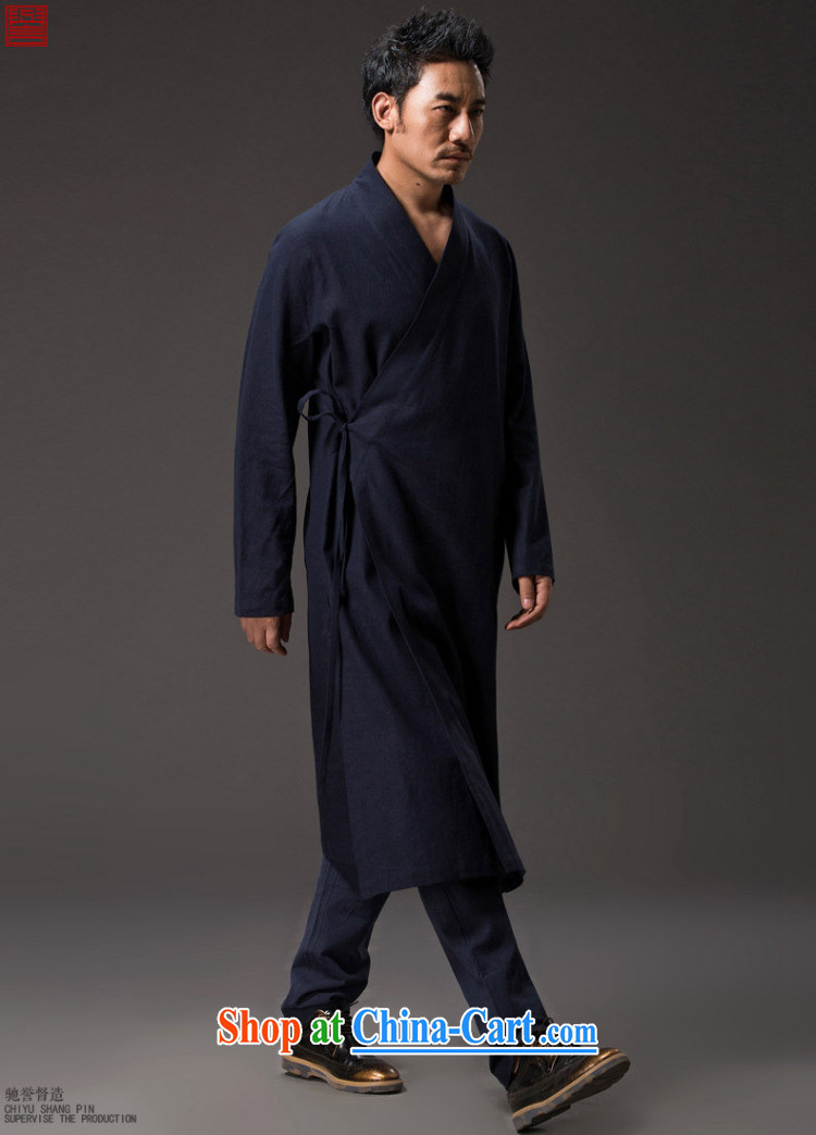 Internationally renowned Chinese wind man long, Windbreaker cotton the SNF tea service Tang is long-sleeved improved Han-cynosure practice serving loose ends a T-shirt and dark blue XL/175 pictures, price, brand platters! Elections are good character, the national distribution, so why buy now enjoy more preferential! Health