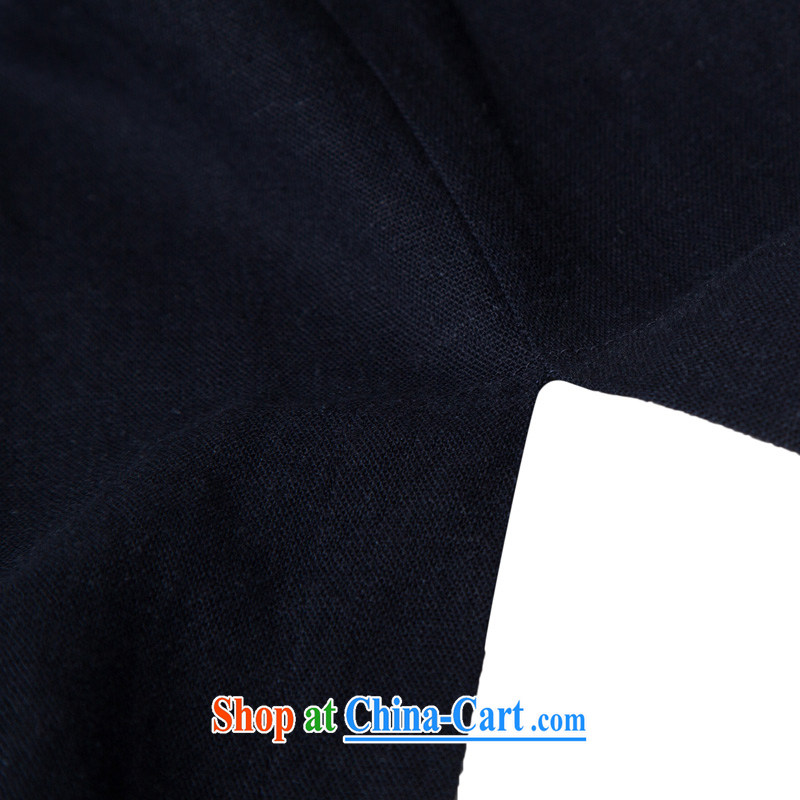 Internationally renowned Chinese wind men's long, wind jacket cotton the SNF tea serving Chinese long-sleeved improved Han-cynosure practice serving loose the tight T-shirt and dark blue XL/175, internationally renowned (CHIYU), online shopping