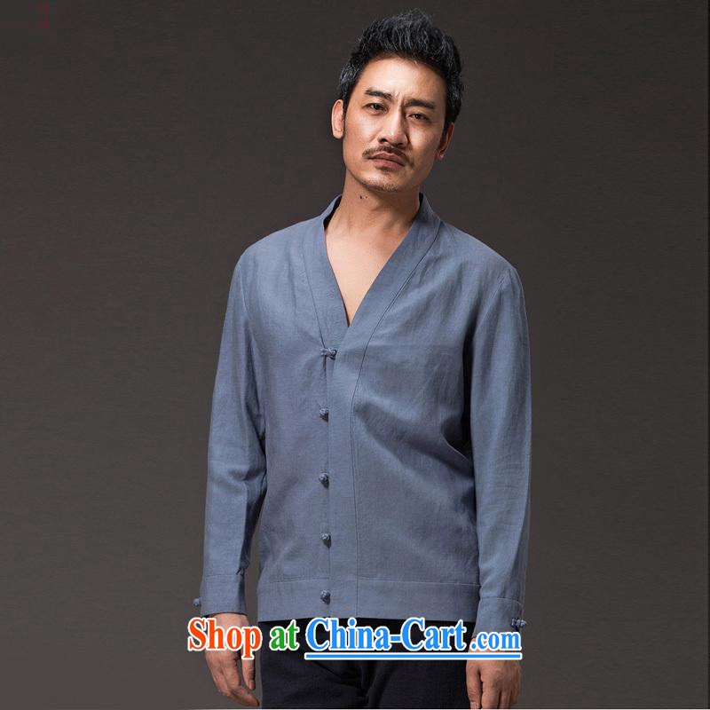 Internationally renowned Chinese wind male cynosure serving spring loaded Tang men's long-sleeved days, the Han-meditation service jacket Chinese sky (XL)