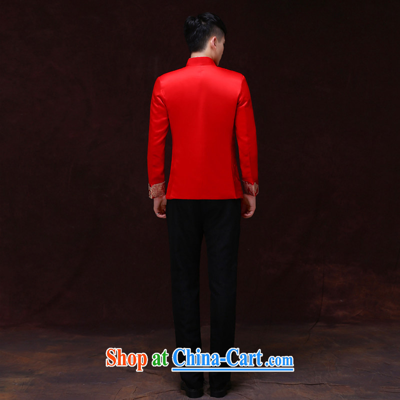Miss CHOY So-yuk-ki-soo-wo service men and the groom's Chinese Chinese wedding dress long-grain-su Wo service men and the groom loaded men costumes dress-soo and the T-shirt A S, Miss CHOY So-yuk-ki, shopping on the Internet