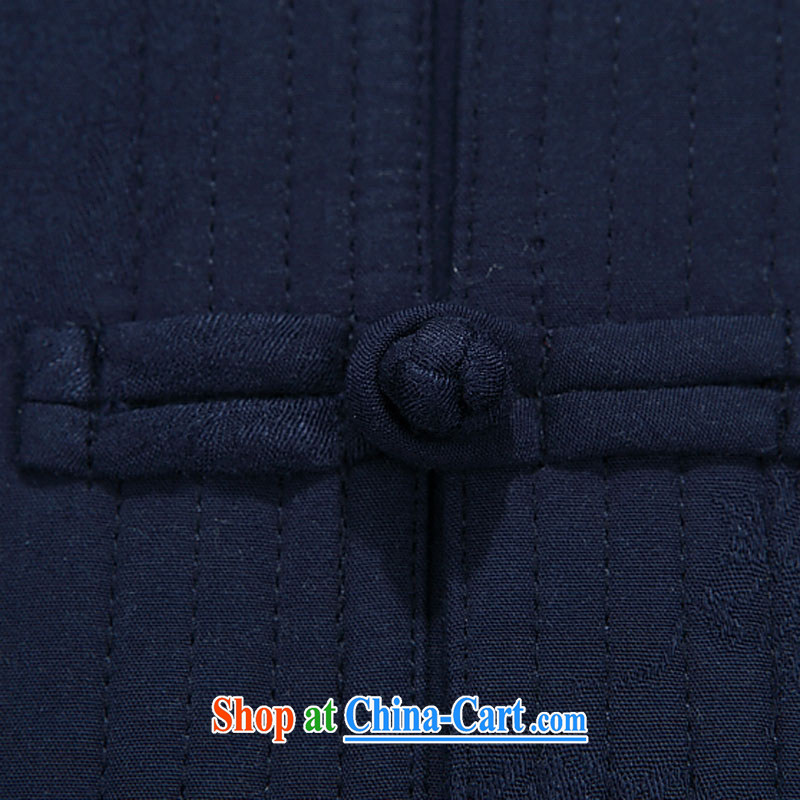 The chestnut mouse New Men's Tang jackets long-sleeved set up for China wind Autumn Chinese jacket, old blue T-shirt 90, the chestnut mouse (JINLISHU), shopping on the Internet