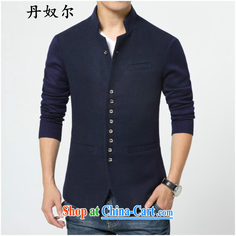 The lighthouses, Dan slavery, men's smock autumn 2015 New Men's business suits tablets, deductions for single western men and modern business and leisure smock jacket dark blue 2 XL
