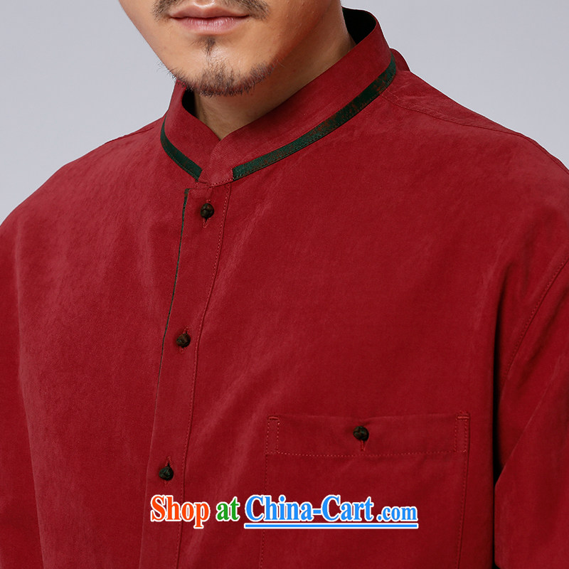 To Kowloon Tong with autumn New China wind men's long-sleeved T-shirt 14,576 Red Red 48 to Kowloon, shopping on the Internet