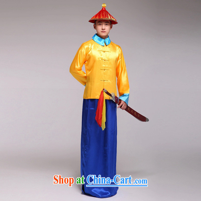 Time Syria during the Qing Dynasty costumes clothing officers and soldiers serving soldiers Wong eschewed the military bodyguards costumed soldiers Eunuchs in the bodyguards costumes small soldiers, Imperial Army costumes detective white adult, 160 - 175