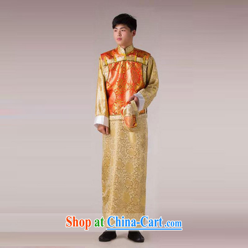 his time in Bosnia and clothing costumes landowners served with Princess Qing Dynasty Emperor Shao Ye load load Bailey Secretary costume show service-su wo service men's Wong the orange A Adult, 160 - 175 CM