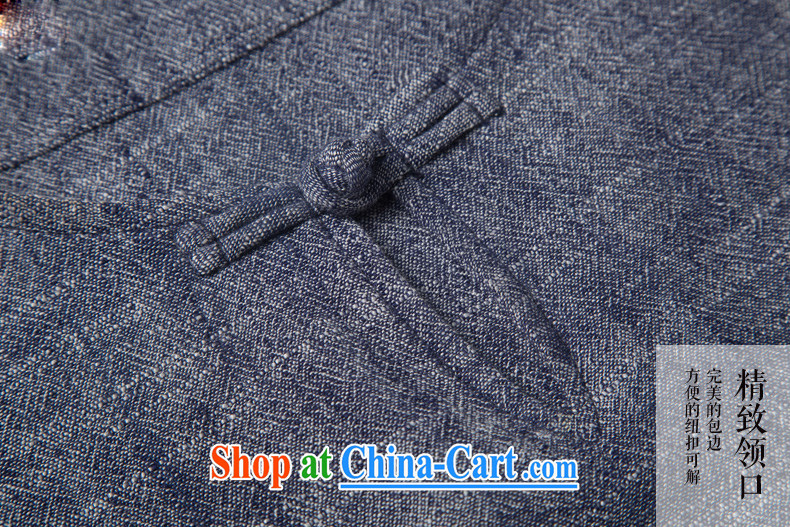 Products HUNNZ new natural linen men's Chinese Ethnic Wind classic elegance simple and plain-colored long-sleeved T-shirt gray XXXL pictures, price, brand platters! Elections are good character, the national distribution, so why buy now enjoy more preferential! Health