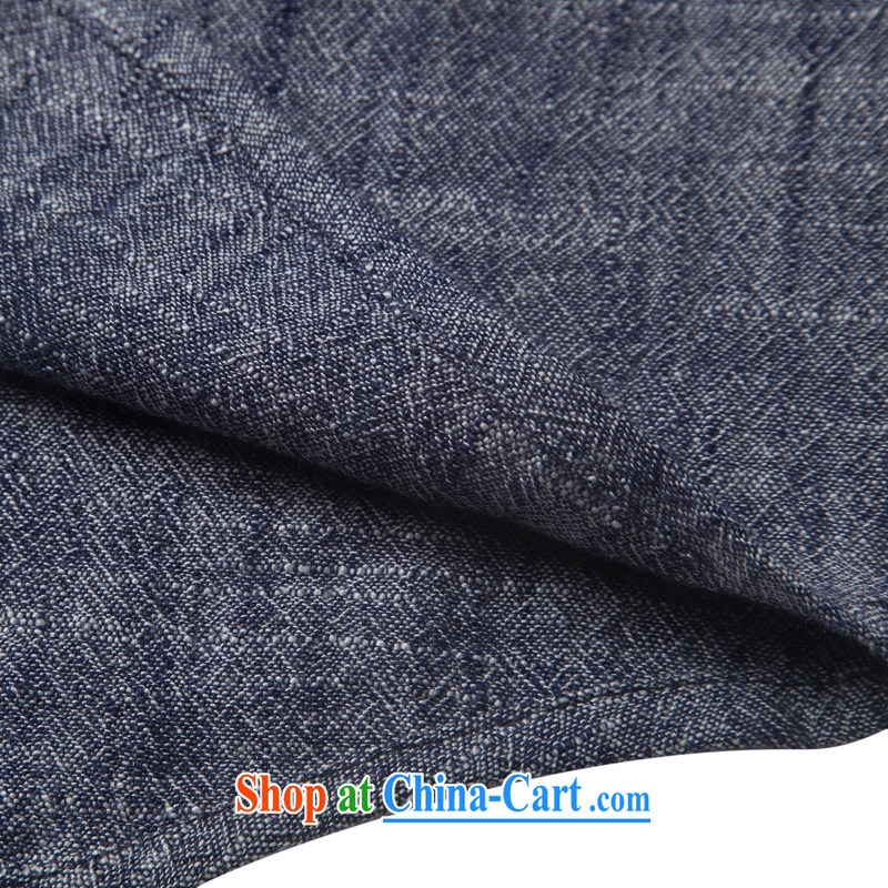 Products HUNNZ new natural linen men's Chinese Ethnic Wind classic elegance simple plain colored long-sleeved T-shirt gray XXXL, HUNNZ, shopping on the Internet