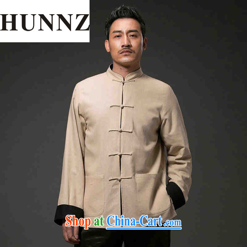 Products HUNNZ China wind antique Chinese Classic beauty stylish and simple, for the charge-back and can be two-sided wear clothing and light yellow XXXXL