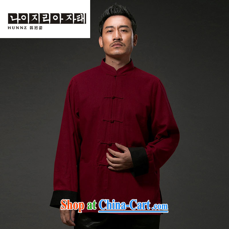 Products HANNIZI China wind antique Chinese Classic beauty stylish and simple, for the charge-back and can be two-sided wear clothing and deep red XXXXL