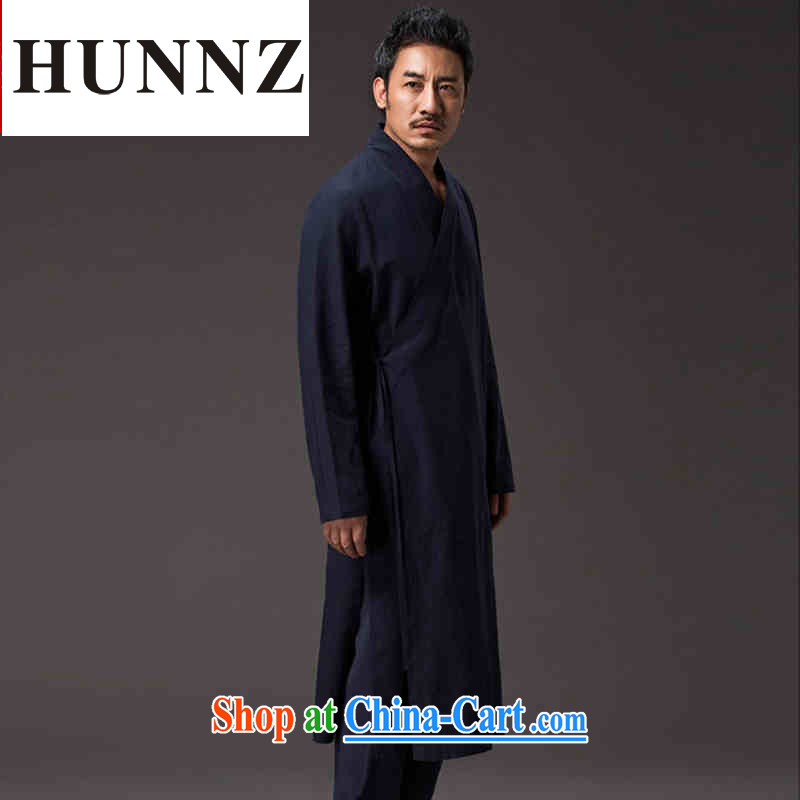 Products HUNNZ China wind natural cotton the Zen master service classical Chinese Han-liberal spiritual cynosure serving serving wise dark blue XXXL