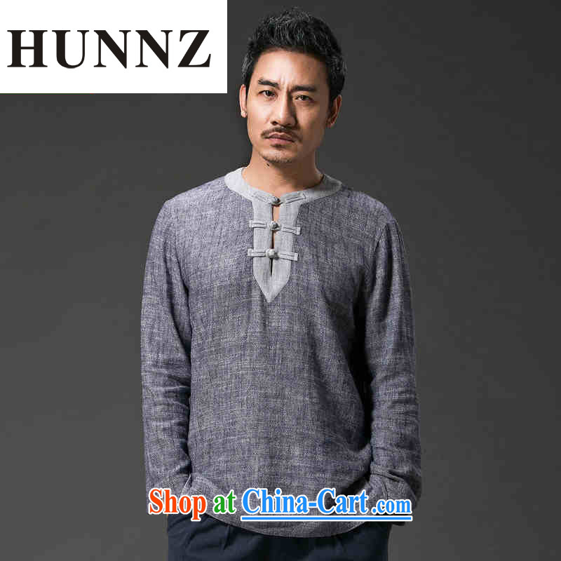 Products HUNNZ new retro China wind men's Chinese loose cotton the hermit cynosure serving tray for casual male gray XXXXL