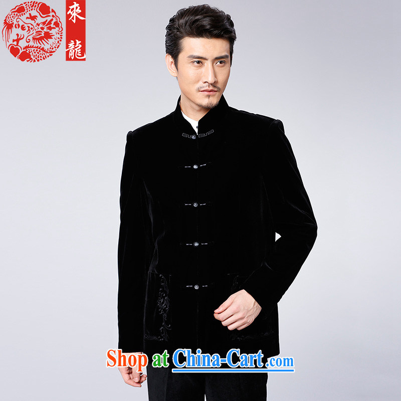 To Kowloon Tong with autumn and winter, China wind men's jackets 14,556 black 52