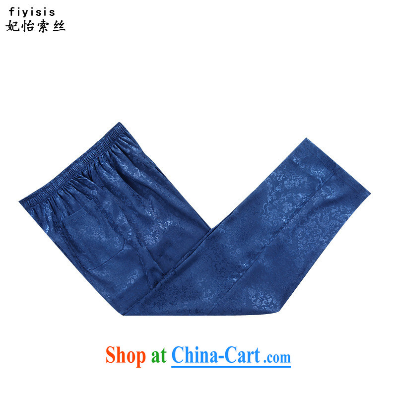 Princess SELINA CHOW (fiyisis) Autumn older persons in men's long-sleeved Chinese men and Kit China wind Chinese leisure national service the code father blue package 190, Princess Selina Chow (fiyisis), shopping on the Internet