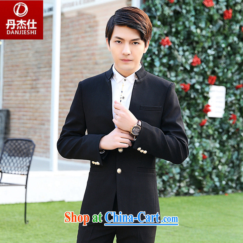 Dan Jie Shi, who wore the Korean version 2015 beauty autumn new Korean men's beauty business casual style suit suit black L