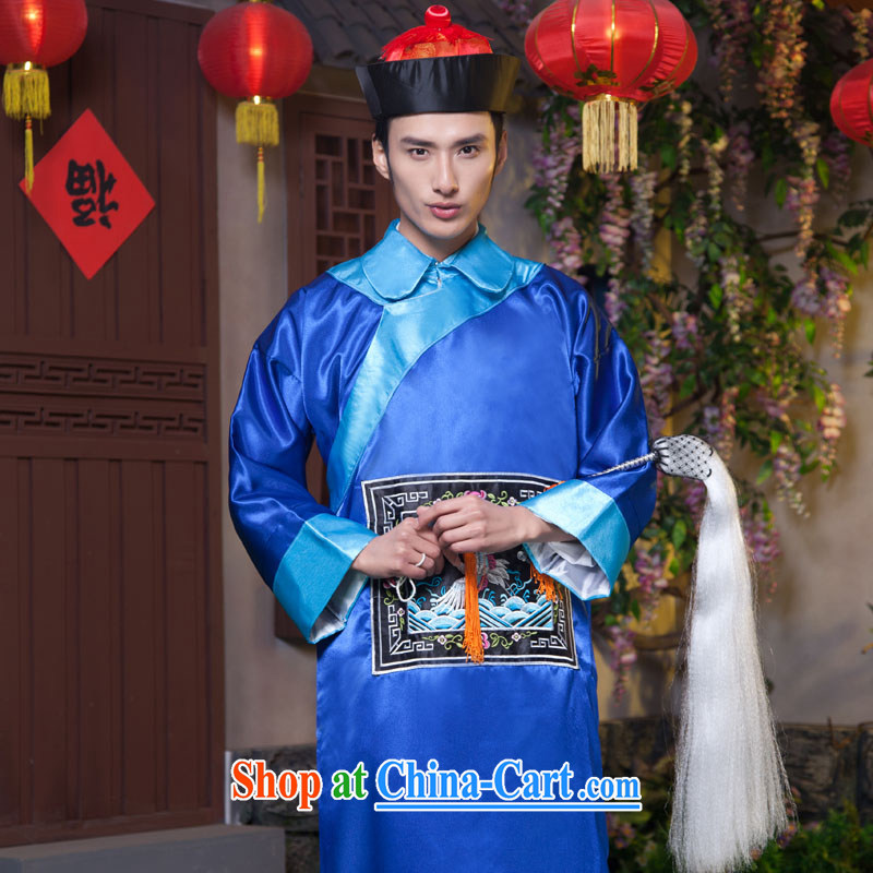 Time Syrian costumes clothing and dress in Qing Dynasty eunuch zombie clothing 10,000 Halloween costume show service bodyguards serving minister Qing dynasty clothing dark blue adult, 160 - 175 CM pictures, price, brand platters! Elections are good character, the national distribution, so why buy now enjoy more preferential! Health